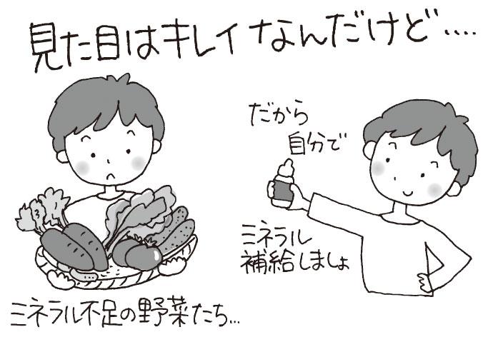 ミネラル不足の野菜たち